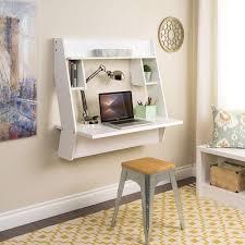 winslow white modern floating desk