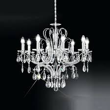 grand crystal chandelier 8 light with brocade chrome and 2 l on chandeliers px regal