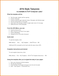 Apa Research Paper Template Art Resume Skills Outline Format Example