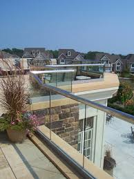 exterior glass with aluminum track system