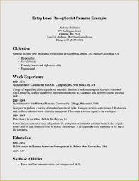 Entry Level Job Resume Objective Examples Bistronovecento