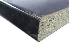 Plan De Travail Stratifié Granit Noir Brillant 3040x645x38 Mr