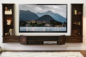 Formidable Tv Stand Floating Mount Floating Wall Mount Tv Stand Home Design  Ideas in Wall Mounted