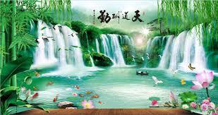 Scenery Wallpaper For Bedroom Custom Large Murals Fabric Wallpaper 3d Wall Sitting Room B53