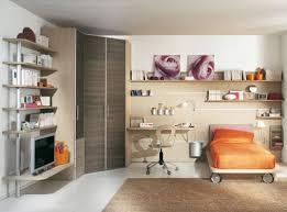 large kids bedroom with corner cabinet orange cover be and orange
