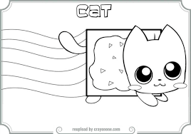 Small Picture Nyan Cat Coloring Pictures Coloring Pages Ideas