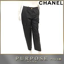 chanel underwear. [cleaning finished] chanel chanel underwear cargo pant black bottoms military cc here button lady\u0027s size 40 96a [used] apparel l