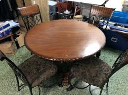 oak round dining table furniture solid oak round dining table with 4 chairs