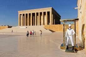 Turkey, Ankara, Anitkabir, Guard in front of Ataturk's Mausoleum –  Stockphoto
