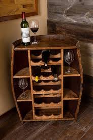 wine barrel wine rack furniture. Half Wine Barrel Bottle Cabinet, Provincial Finish Rack Furniture