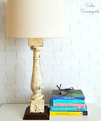 diy table lamp from architectural salvage baer