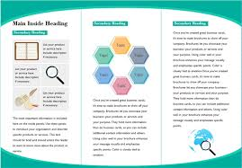 Brochures Templates Free Download Customizable Leaflet Templates Free Download