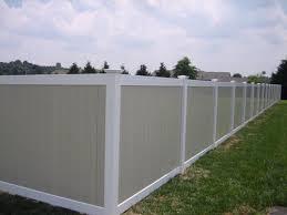 Image Lowes Tan White Full Privacy Singleton Fence Vinyl Fences pvc
