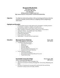 Resume Objectives Accounting Resume Objective Examples Entry Level