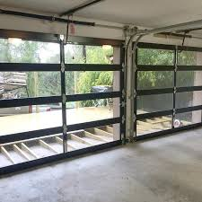 stylish glass garage doors within decorations stylish glass garage doors with s door service decor 3