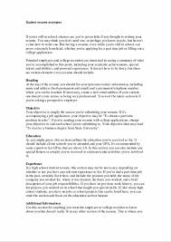 High School Resume For College Examples Beautiful Free High School