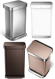 nanosilver clear coat processing 30 liters 45 liters 55 liters simplehuman with the steel bar rectangular step perception 38l stainless steel black white