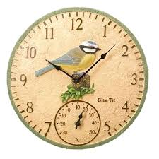 outdoor clock and thermometer double sided with regard to set inspirations 5