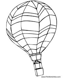Hot air balloon drawing template rld balloon_download templatejpg. Hot Air Balloon Coloring Pages Free Printable Coloring Home