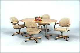 rolling dining chairs. Stylish Rolling Dining Chairs Room Sets With Casters Regarding Plan L