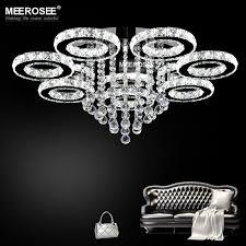 modern led chandeliers light stainless steel crystal lamp for living bedroom diamond ring lustres chrome chandelier lightingin from lights chandelier lights online e43