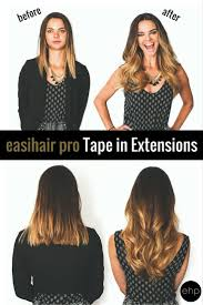 Before And After Easihair Pro Tape In Extensions Add