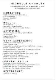 Resume Examples For University Students – Hflser
