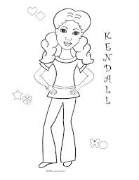 Small Picture Coloring Pages For African American Girls Charmz Girl Kendall