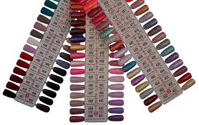 Dnd Duo Color Chart Dnd Soak Off Gel Polish Dual Matching Color Set Aaa Sample Color Swatches