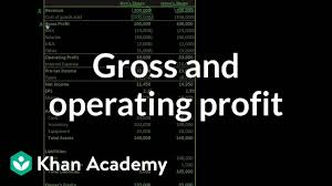 Gross And Operating Profit Video Khan Academy