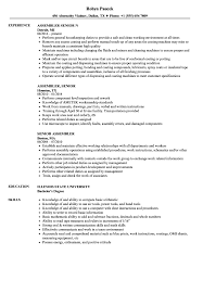 Assembler Resume Samples Senior Assembler Resume Samples Velvet Jobs 6