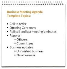 Free Agenda Templates For Meetings Beauteous Business Meeting Agenda Templates Mandatory Template Memo Flyer