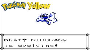 Nidoran Evolves Into Nidorina Pokemon Yellow