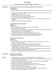 Operation Supervisor Resume Samples Velvet Jobs
