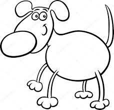 Leuke Hond Teken Kleurplaat Stockvector Izakowski 58973549