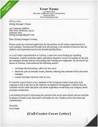 32 Cover Letter Customer Service Representative Call Center No