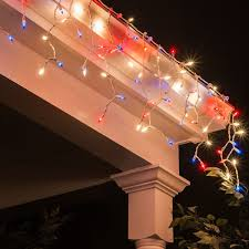 Mini Window Icicle Lights Red White And Blue Mini Icicle Light Icicle Lights Blue