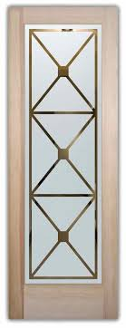 cross hatch etched glass front doors