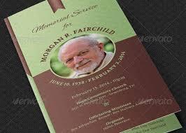 Funeral Pamphlet Templates Enchanting Bifold Funeral Program Template Godserv Market