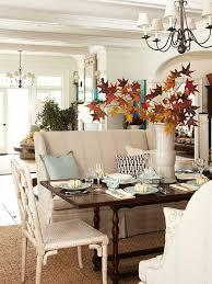 dining room thanksgiving decor thanksgiving interior decor ideas via better homes and gardens