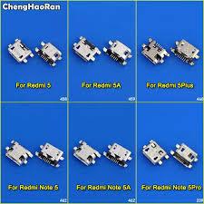 Chenghaoran 10Pcs Micro Usb Cổng Kết Nối Ổ Cắm Nữ Cổng Sạc Điện Thoại Phích  Cắm Điện Dock Cho Xiaomi Redmi 5 5a 5 Cộng Với Lưu Ý 5 5a Pro