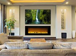 the sideline60 touchstone s 60 inch recessed electric fireplace with heat in black