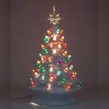 Ceramic Christmas Light Up Tree 2019 White Vintage Retro Light Up Ceramic Christmas Tree With Light Bulbs