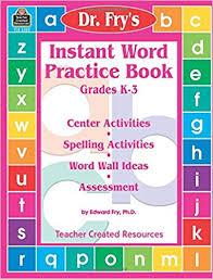 Activities Word Amazon Com Instant Word Practice Book Grades K 3 Center