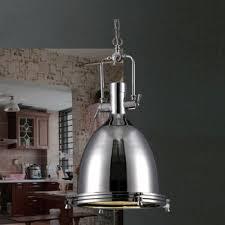 industrial pendant lighting. Industrial Style 1 Light Large Pendant In Polished Nickel Industrial Pendant Lighting