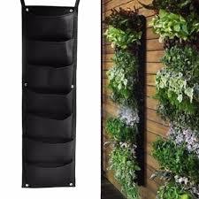 compre 5 unids colgando de pared bolsas de siembra verde crecen bolsa jardinera vertical garden vegetableseeds living garden puertos suministros para el