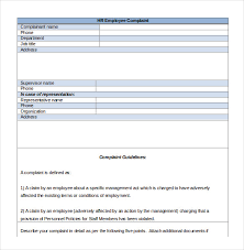 Hr Complaint Letter 10 Free Word Pdf Documents Download Free