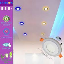 2 Đèn Led âm trần 6w ( 3w +3w) siêu mỏng tròn mắt trâu 2 màu 3 chế độ  Posson LP-Ri3+3x - P676991 | Sàn thương mại điện tử của khách hàng  Viettelpost