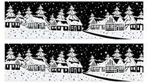 Dpr 2er Set Winter Fensterbild Dorf Im Wald Schneeflocken Mit Glimmer Fenstersticker Fensterdekoration Weihnachten