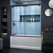semi frameless bypass tub door